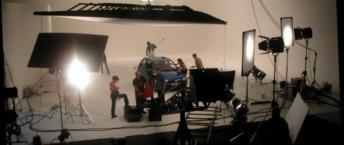 TV Commercial filming in studio